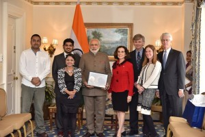 Laser Interferometer Gravitational Wave Observatory team with PM