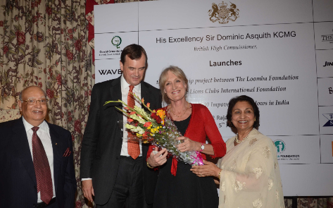 British High Commissioner launches The Loomba Foundation's Project
