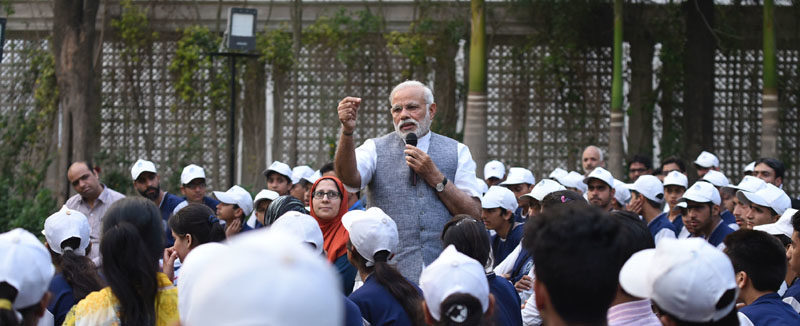 PM Modi interacts with Youth and Childre from Jammu and Kashmir