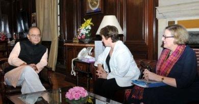 Indian FM Jaitley meets Kristalina I. Georgieva, CEO of World Bank Group