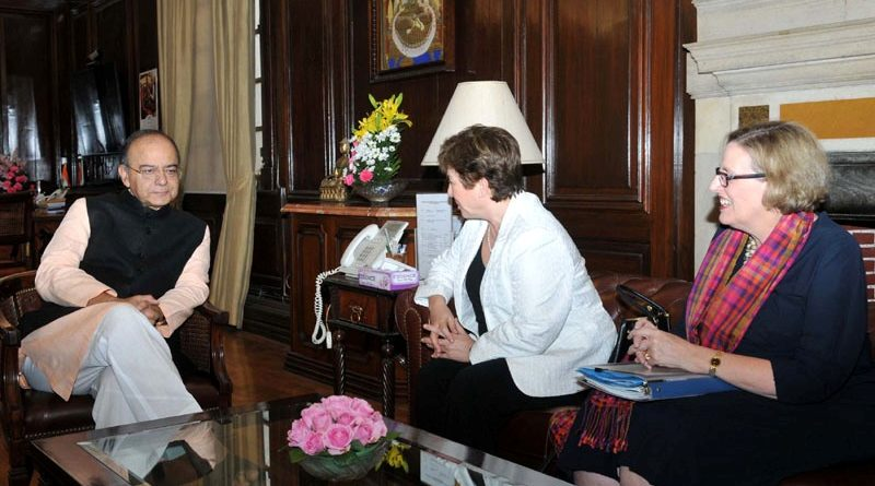 Indian FM Jaitley meets Kristalina I. Georgieva, CEO of World Bank Group