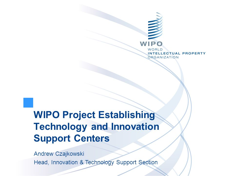 Technology and Innovation Support Centers