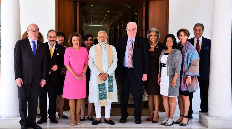 prime minister modi with us congressional delegation