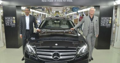 Mr. Roland Folger, MD & CEO, Mercedes-Benz and Mr. Piyush Arora, Executive Director-Operations, Mercedes-Benz India at the roll out of the all new E-Class 220 d in Chakan near Pune