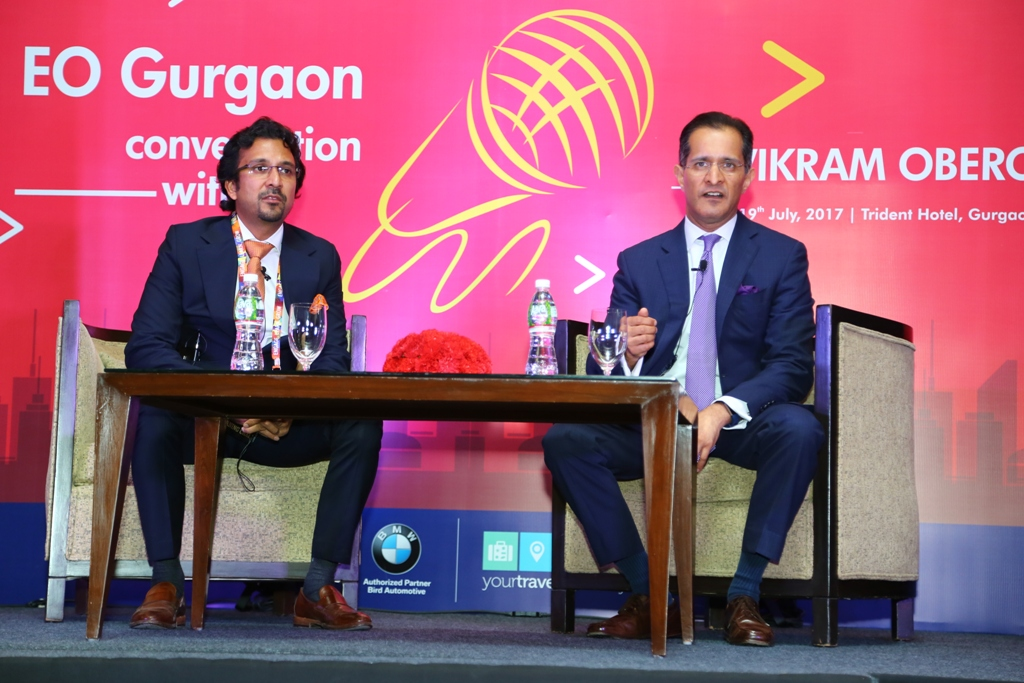 EO Gurgaon Organizes Conversation with Vikram Oberoi