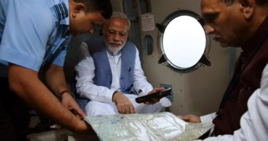 Prime Minister, Shri Narendra Modi, aerial survey of flood affected areas of Gujarat