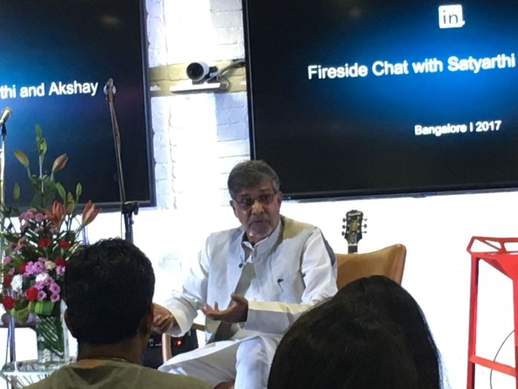 Sh.Kailash Satyarthi at LinkedIn