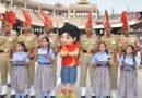 Children celebrate Surakshabandhan with BSF Jawans