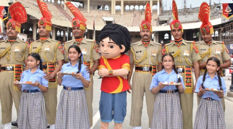 Children celebrate Surakshabandhan with BSF Jawans