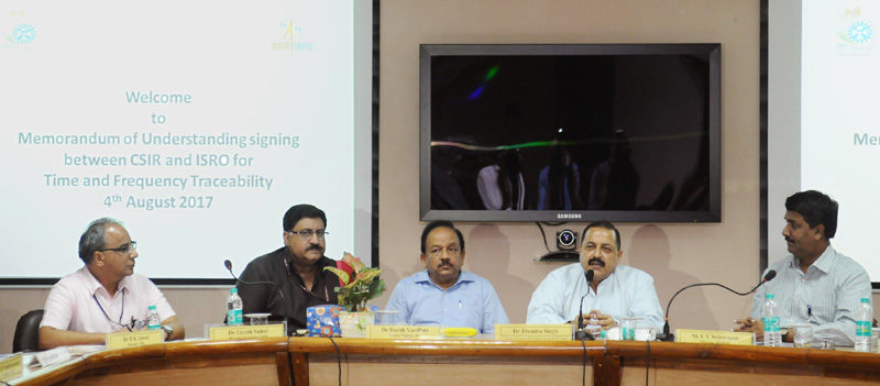 ISRO and CSIR-NPL sign MoU