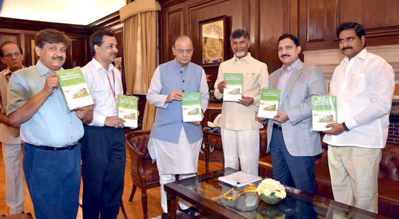 union finance minister and andhra pradesh cm release book on financial management
