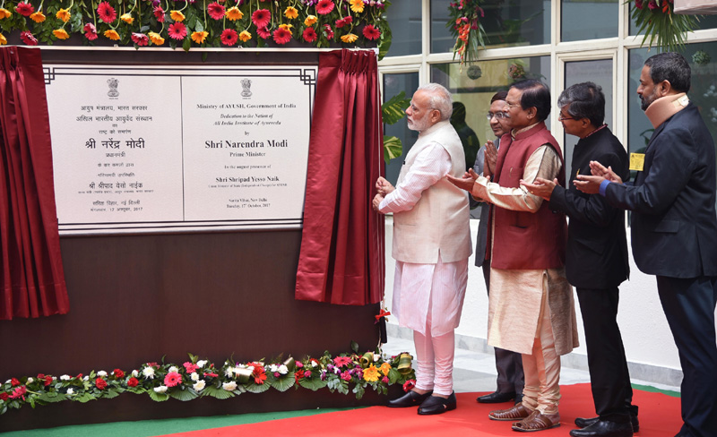 PM Modi dedicates All India Institute of Ayurveda to the nation