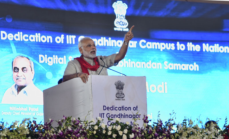 PM Modi dedicates IIT Gandhinagar campus to the nation
