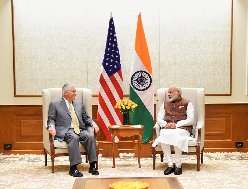 US Secretary of State Rex W. Tillerson calls on Prime Minister.j