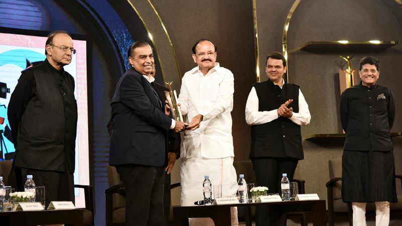 Vice President gives away The Economic Times Awards
