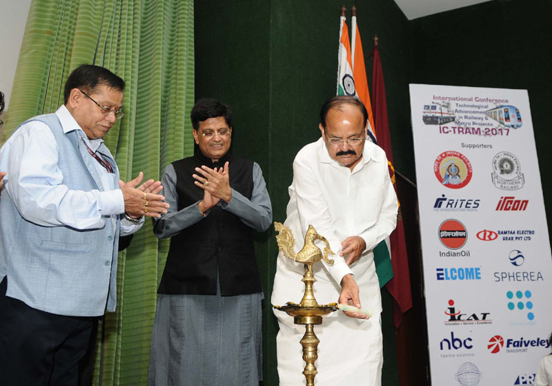 Vice President of India, Shri Shri M. Venkaiah Naidu inaugurated an International Conference on Technological Advancements in Railway and Metro Projects