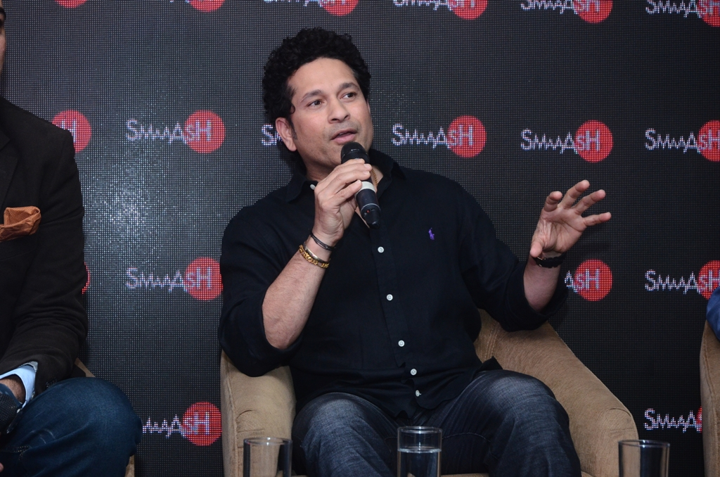 Sachin Tendulkar at the launch of SMAAASH at Ambience Malls - Vasant Kunj and Gurgaon