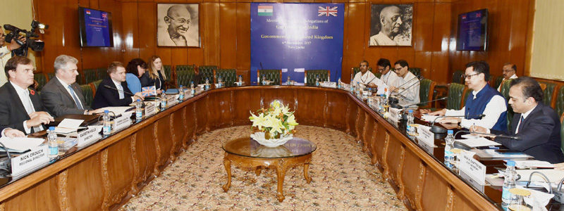 UK MoS (Immigration) talks with Shri Kiren Rijiju