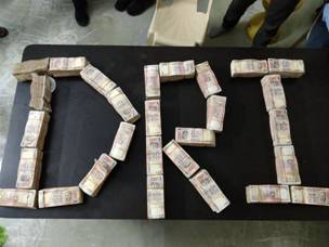 Dri Strikes Against Black Money - Recovers about Rs.50 Crores of Demonetized Currency