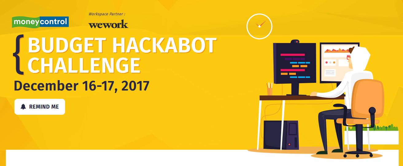 Moneycontrol Budget Hackabot Challenge business news portal