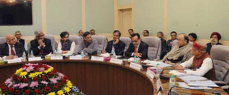 run Jaitley chairing the 6th meeting of Pre-Budget Consultations