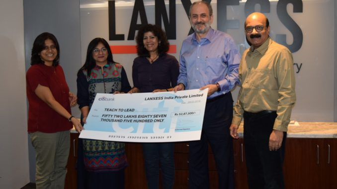 LANXESS continues association with Teach For India