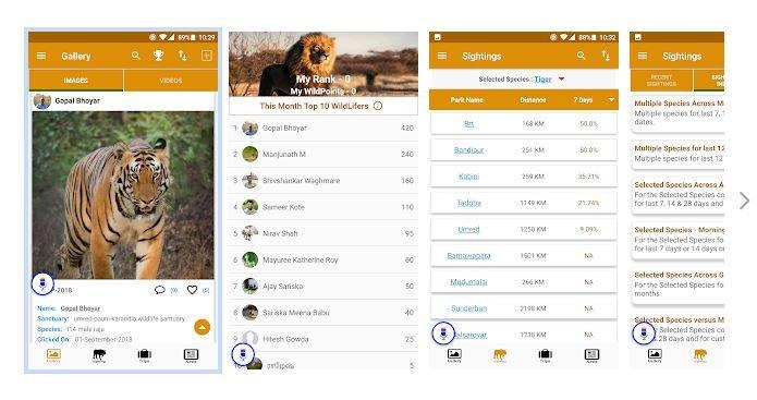 WildTrails app snapshot