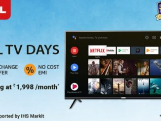'TCL TV Days' are back on Amazon India from 22 to 24 May, with no-cost EMIs starting from INR 1,998