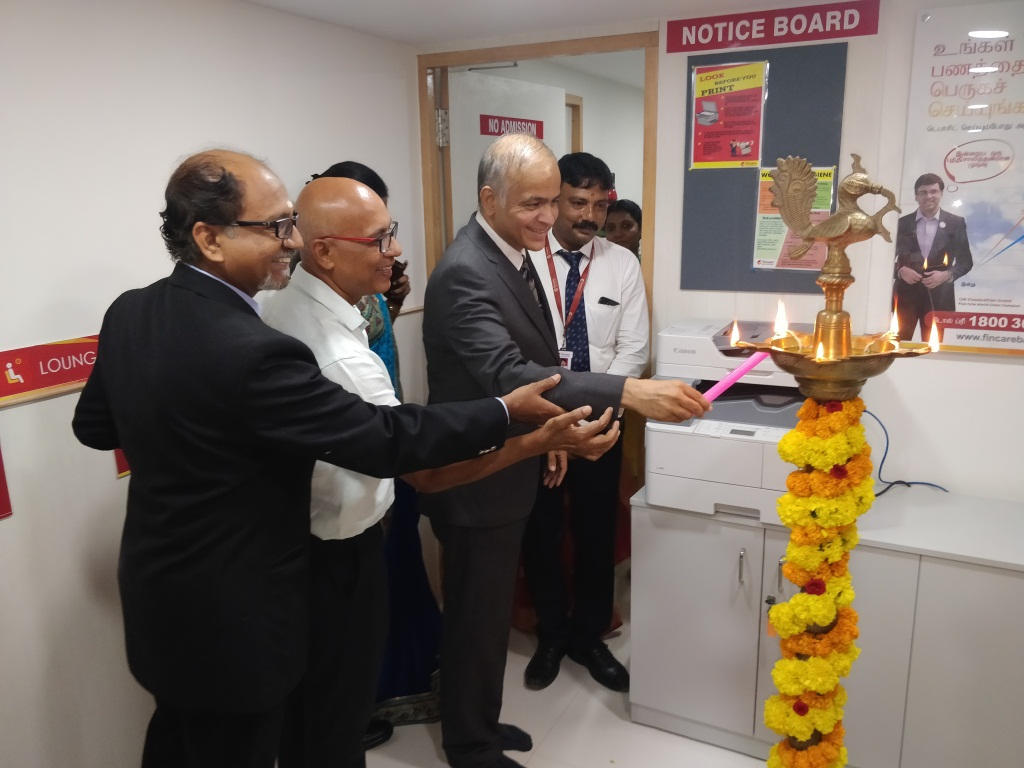 Fincare Small Finance Bank launches its third banking outlet in Chennai at Anna Nagar
