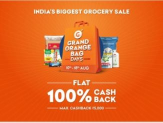 Grofers is back with India's largest grocery sale 'Grand Orange Bag Days' from 10th to 18th August