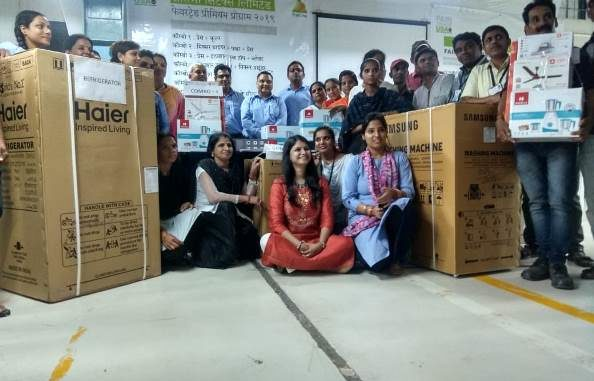 Pratibha Syntex distributed Refrigerator, washing machine and other home appliances to associates