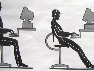 Right workplace posture can avoid most of the lower back pain