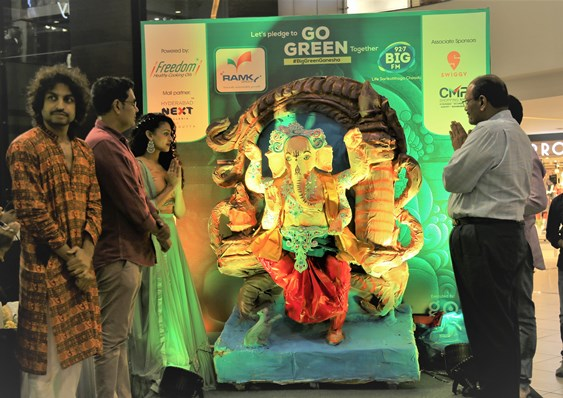 Eco- friendly Ramky Go Green Ganesha unveiled