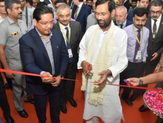 Shri Ram Vilas Paswan and Shri Conrad K Sangma, Chief Minister of Meghalaya inaugurating SIAL India today