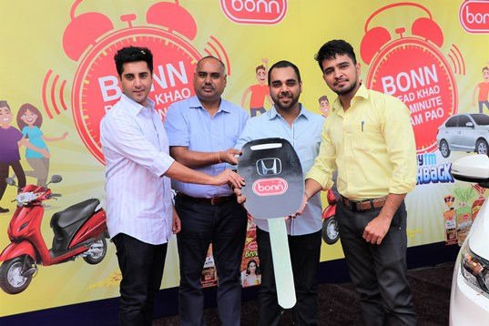 "Bonn Group's announces bumper prize winner of their consumer Campaign ""Bonn Bread Khao Har Minute Inaam Pao"""