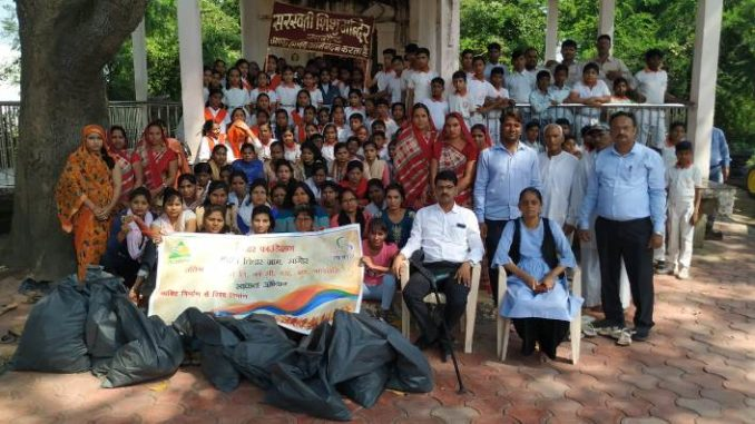 Pratibha organised cleanliness drive in Sagore