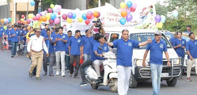 L V Prasad Eye Institute organises Children's Eye Care Awareness Walk to sensitize public about children's eye health & remedies!