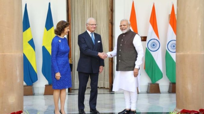 Prime Minister Modi and His Majesty the King of Sweden