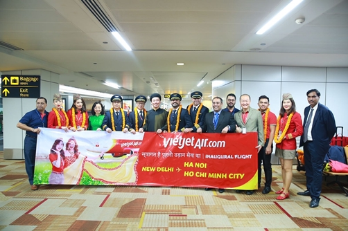 Vietjet officially launches two direct routes linking New Delhi with Ho Chi Minh City and Hanoi