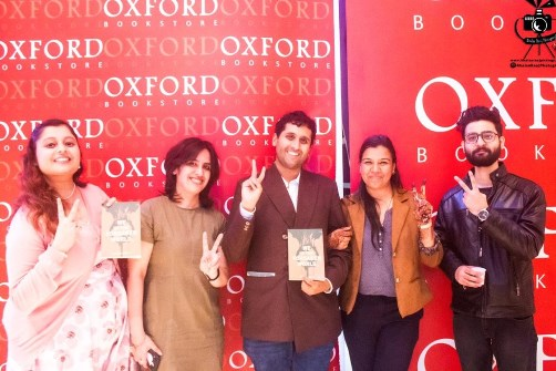 The book launch of We Of The Forsaken World by Kiran Bhat organised by Jashn event management and promoters at Oxford Book store Delhi