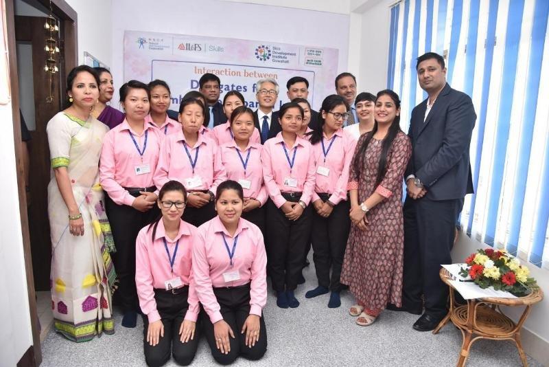 Mr. Satoshi Suzuki, Ambassador of Japan to India present at IL&FS Skills Guwahati centre