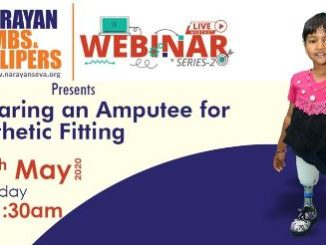 Narayan Seva Sansthan (NSS) hosted LIVE Webinar for Differently-abled, on using artificial limbs