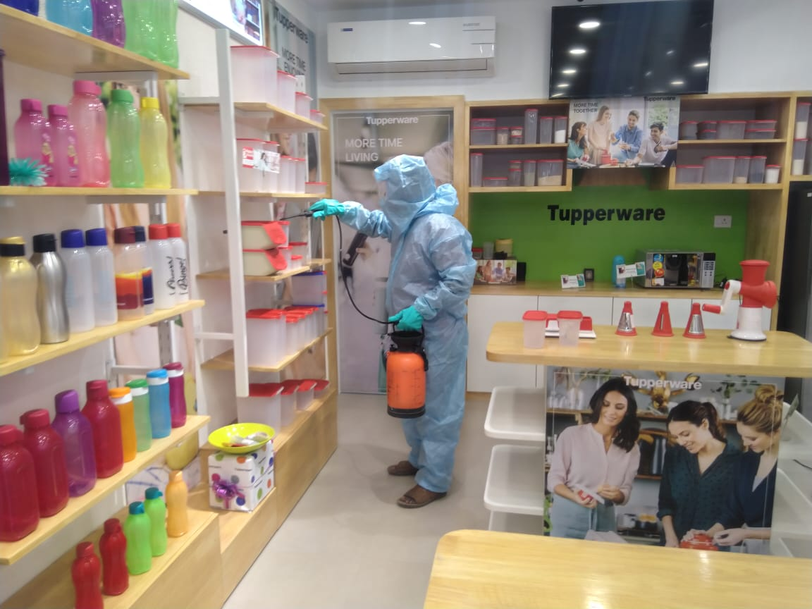 Sanitization in Tupperware Outlets