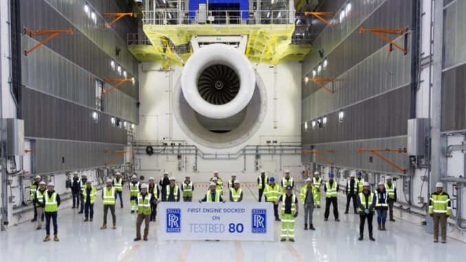 ROLLS-ROYCE RUNS FIRST ENGINE ON WORLD'S LARGEST AND SMARTEST AEROSPACE TESTBED
