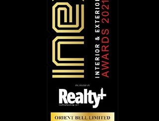 Orientbell Tiles wins Brand of the Year and Mobile App of the Year awards at Realty+ 5th INEX Awards 2021