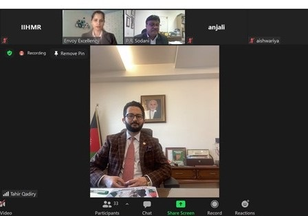Indo-Afghanistan Relations Strengthen as IIHMR University participates in the webinar of Embassy of the Islamic Republic of Afghanistan