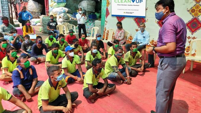 Clean-Up Foundation conducts health & COVID 19 vaccination awareness campaign for city's rag-pickers