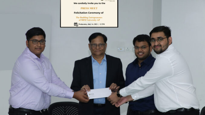 Maiden Batch of SRM AP Students Create Record with Incredible Startup OurEye.ai