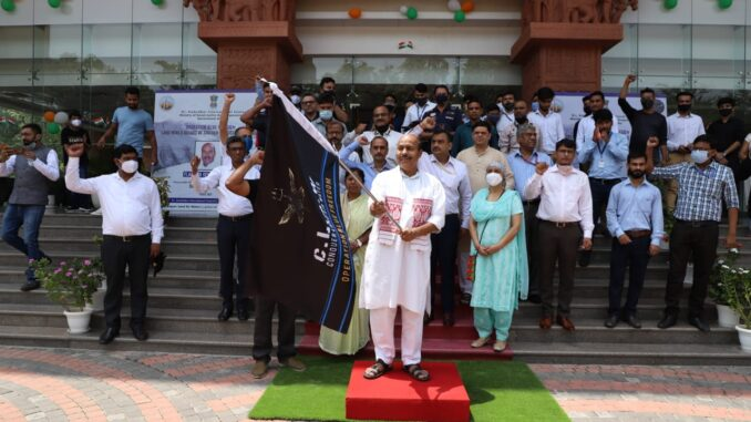 Hon'ble Minister for Social Justice and Empowerment Dr. Virendra Kumar flags-off World Record Expedition team of People with Disabilities to Siachen Glacier from New Delhi