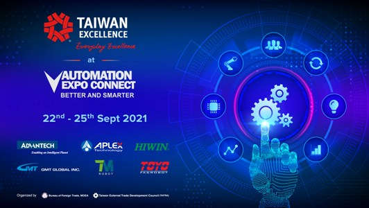 Taiwan Excellence brings Taiwan's top brands to display precision and perfection in Automation Expo Connect 2021